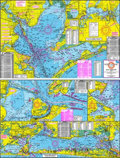 Galveston Bay Boat Fishing Map