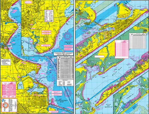 Galveston bay west wader 39 s fishing map with gps fishing for Texas city dike fishing