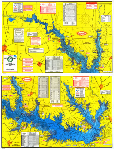 Map of Lake Sam Rayburn