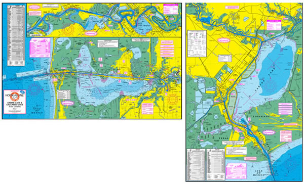 Sabine and Calcasieu Lake Fishing Map