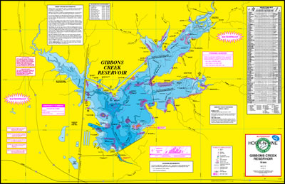 Map of Gibbons Creek