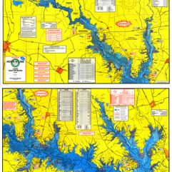 Lake Sam Rayburn Fishing Map w/GPS