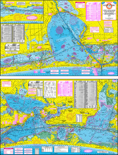 Upper Laguna Madre Fishing Map w/GPS
