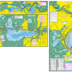 Sabine Lake & Calcasieu Lake Fishing Map w/GPS