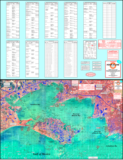 Vermillion Bay Topographical Fishing Map