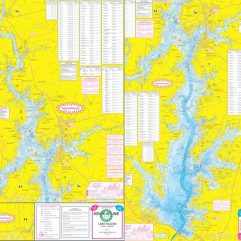 Topographical Fishing Map of Lake Falcon